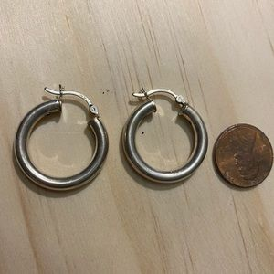 Sterling silver hoops .925 in great shape